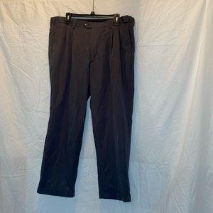 Men's Cuffed Bottom Grey Perry Ellis Dress Pants